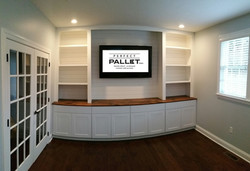 Built-ins with shiplap