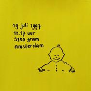 1996-1997 Jochem geboortekaartje