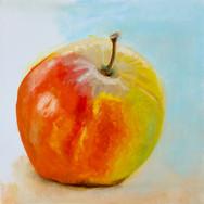 2004-2005 1e olieverfschilderij was van een appel