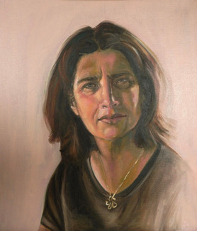 olieverf op doek 50x60 - zelfportret