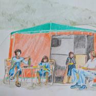 1975-1976 zomervakantie kamperen