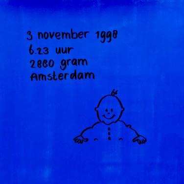 1998-1999 Mathijs geboortekaartje