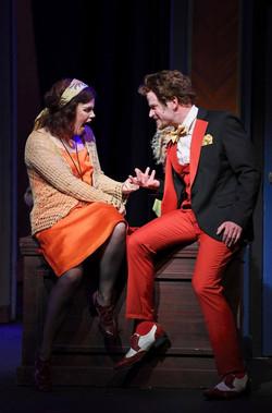 """Miss Hannigan"" in ANNIE with Josh Bernaski as ""Rooster"""