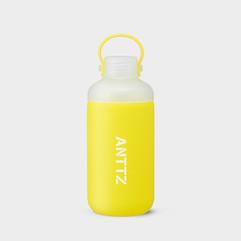 ANTTZ DOUBLE CAP WATER BOTTLE_YELLOW_600ml