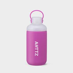 ANTTZ DOUBLE CAP WATER BOTTLE_PURPLE_600ml