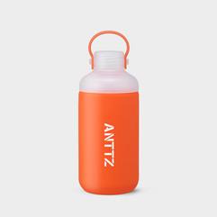 ANTTZ DOUBLE CAP WATER BOTTLE_ORANGE_600ml