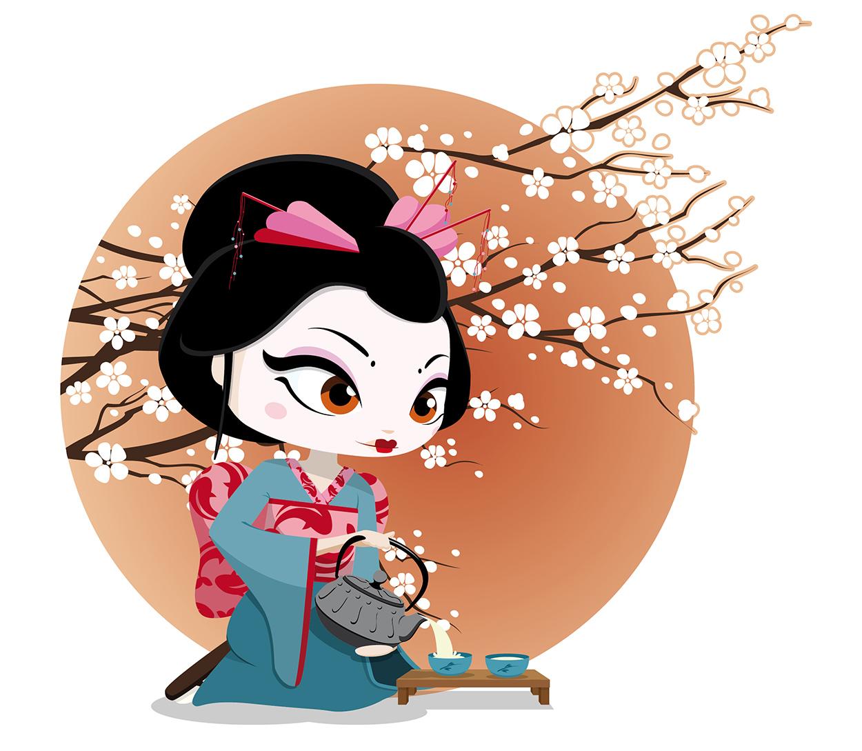Geisha Ceremonia del té