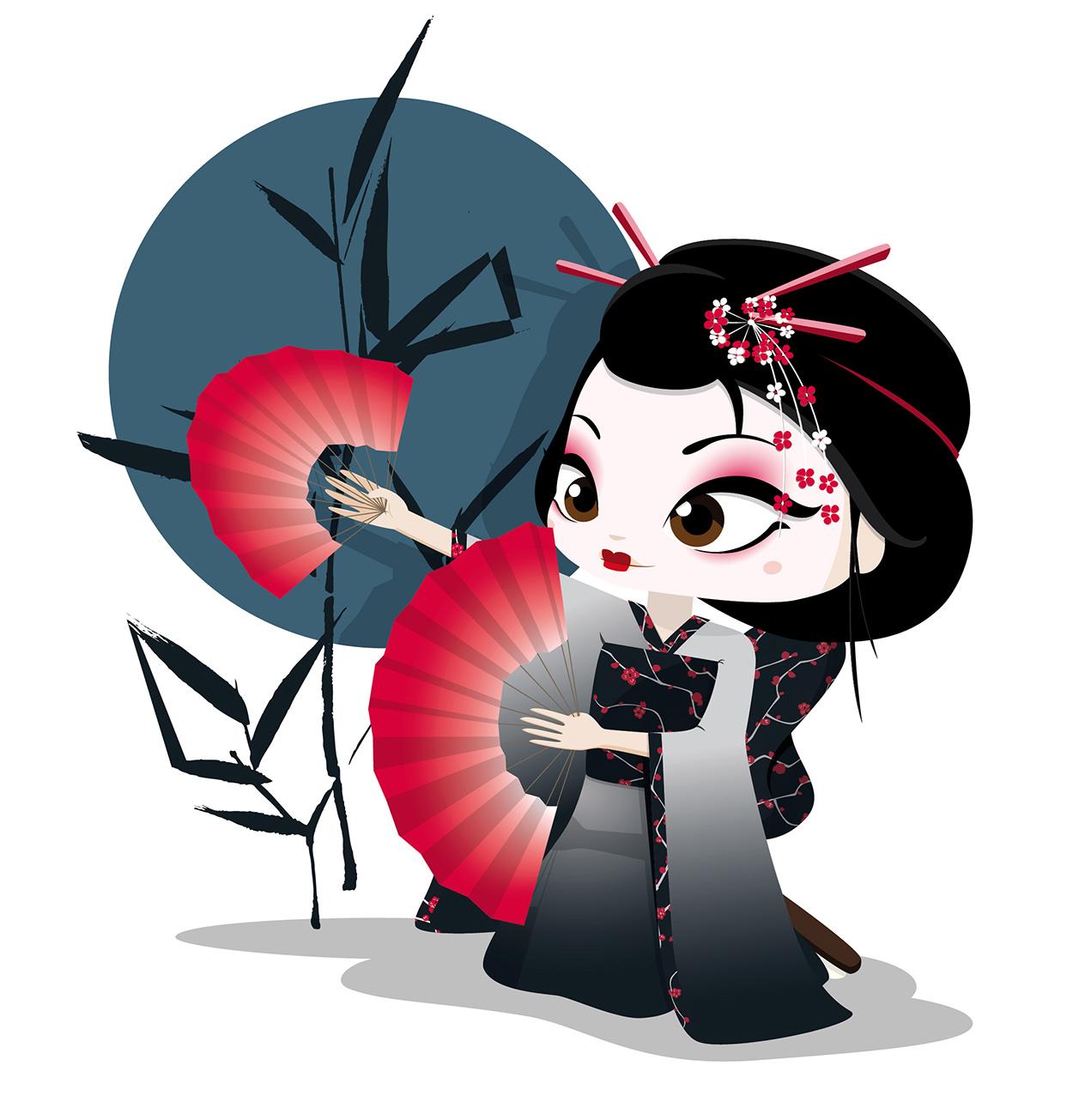 Geisha Bailando