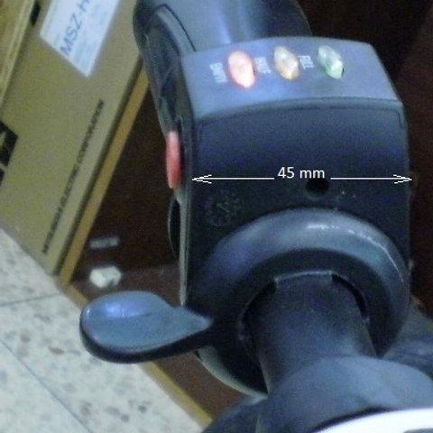 Daumengashebel mit Schalter und 3-LED-Anzeige 36 V