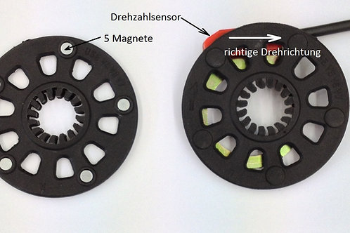 PAS-Sensor mit 5-Magneten-Scheibe, ca. 35 cm-Kabel