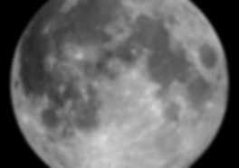 This pictures shows a close up picture of a full moon