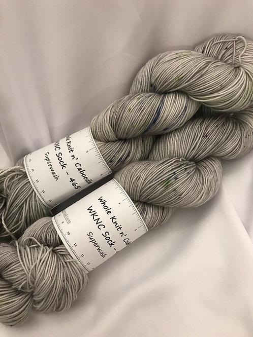 WKNC-Sock 465 Superwash - Grey Speckle