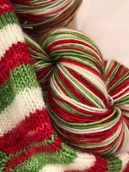 WKNC-Stripe Sock - Candy Cane Stripe   S7
