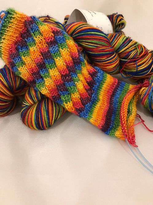 WKNC-Stripe Sock - Rainbow Stripe   S3