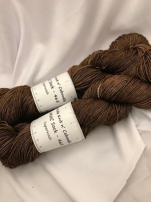 WKNC-Sock 465 Superwash -Brown