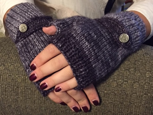 WKNC Fingerless Gloves with Buttons