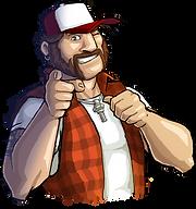 Truck Nation trucker character