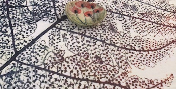Table Dress and Picnic Cloth - Fossil Fern