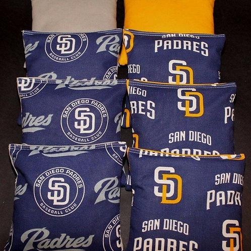 San Diego Padres Cornhole bags, set of (8)