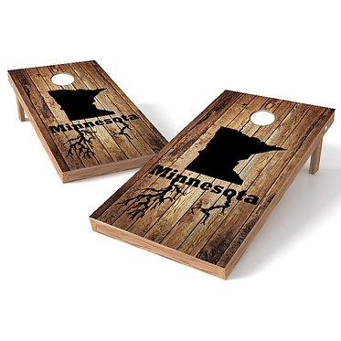 Minnesota Roots Wood Cornhole Wrap