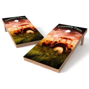 Farm Cornhole Wrap Theme - Personalize with Your Name