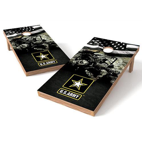 US ARMY Grunge Faded Cornhole Wrap - mock 6