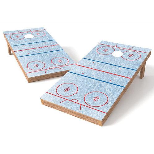 Ice Hockey Rink Cornhole Board Wrap - Add Logo