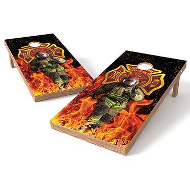Fireman 5 Cornhole Board Wrap