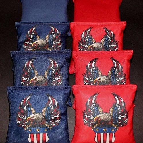 USA Eagle Flag Cornhole bags, set of (8)