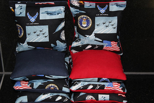 US Air Force Planes Cornhole bags, set of (8)