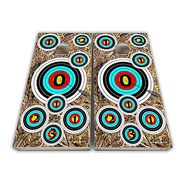 Archery Target Cornhole Toss Wrap Cornhole Game Decal - Play Rules Provided