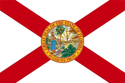 Florida State Flag Cornhole Board Decal Sticker