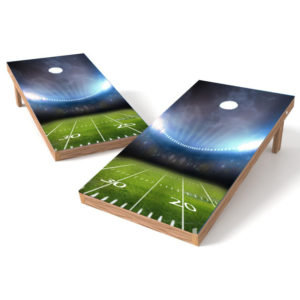 Football Yard Line Cornhole Wrap