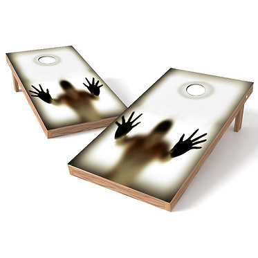 Man Hands Reflection Illusion Cornhole Board Wrap Baggo Bag Toss Corn Toss Wrap