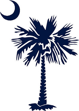 Palmetto Tree and Moon Decal Sticker