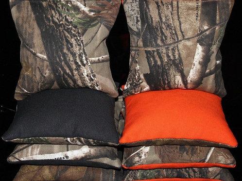 REALTREE Orange Camo Hunting Fishing 2 Cornhole bags, set of (8)