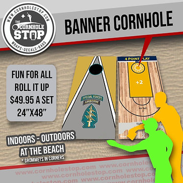 Banner Cornhole Game Set (2) - Select Design Or Request Custom