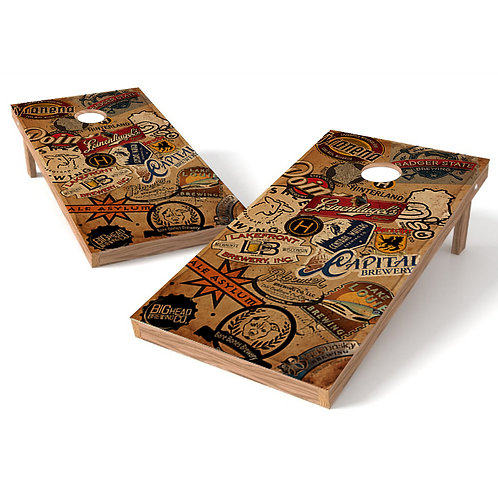 Wisconsin Craft Brewery Beer Cornhole Wrap