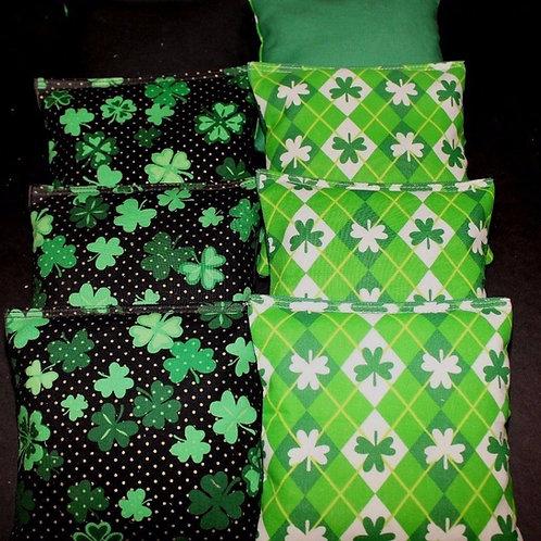 Saint Patricks Day Cornhole bags, set of (8)