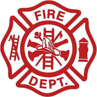 Fire Department Shield Cornhole Decal Sticker