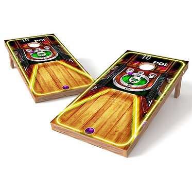 Retro Ball Roll Cornhole Board Wrap