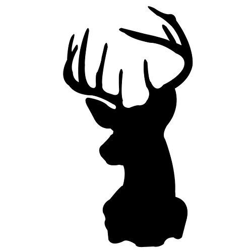 Buck Head Silhoutte Decal Sticker