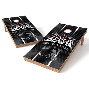 Football Touchdown Helmet Cornhole Board Wrap