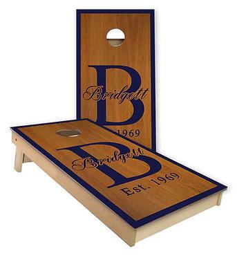 Family Name Monogram Cornhole Board Wrap - Personalize