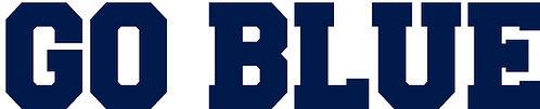 Go Blue Michigan Lettering Cornhole Board Decal Sticker