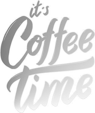 It's Coffee Time Cornhole Decal Sticker