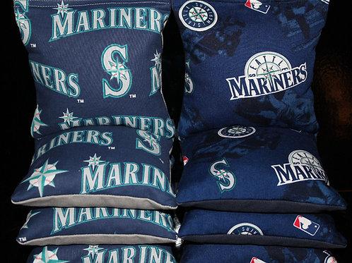 Seattle Mariners baseball Cornhole bags, set of (8)