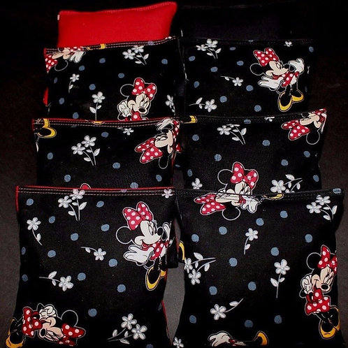 MINNIE MOUSE Cornhole bags, set of (8)