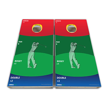 Cornhole Golf Wrap Game Decal - Play Rules Provided