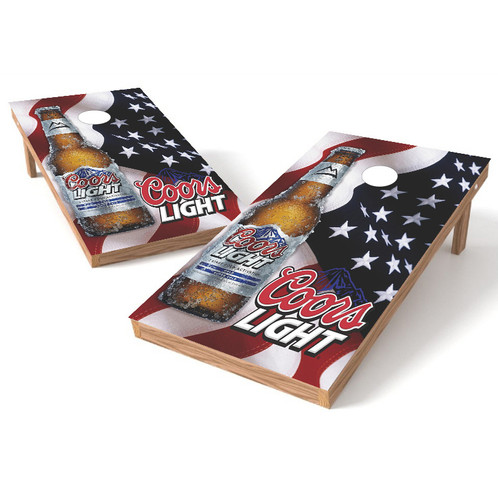 coors light american flag cornhole board wrap cornhole board decals usa cornhole stop - Cornhole Board Wraps